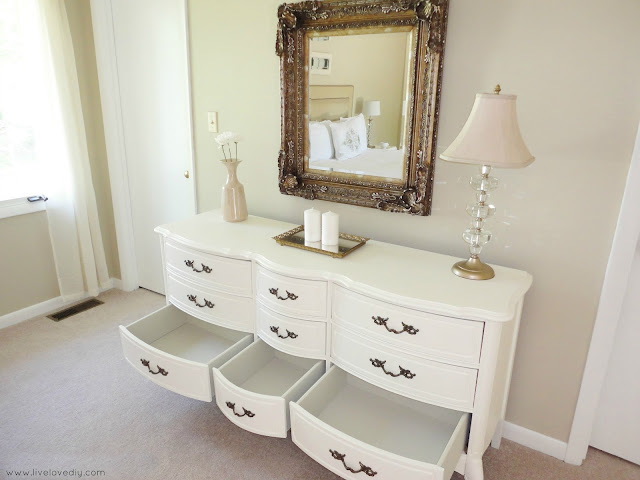 DIY Tip: paint the insides of dresser drawers to get rid of any smells or stains. Works every time and totally revitalizes old furniture! Click for more info.