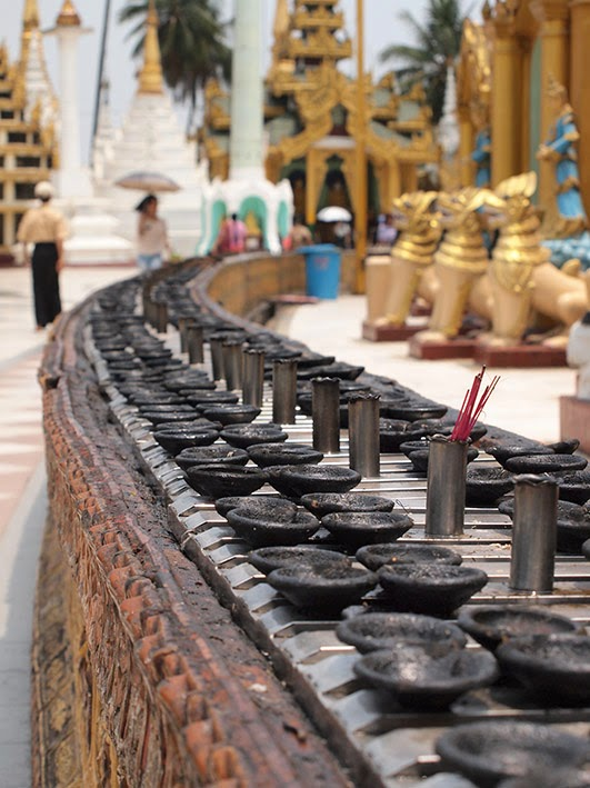 Oil and incense burners - Schwedagon temple, Rangoon