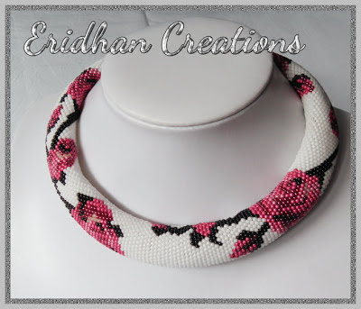 beaded crochet rope