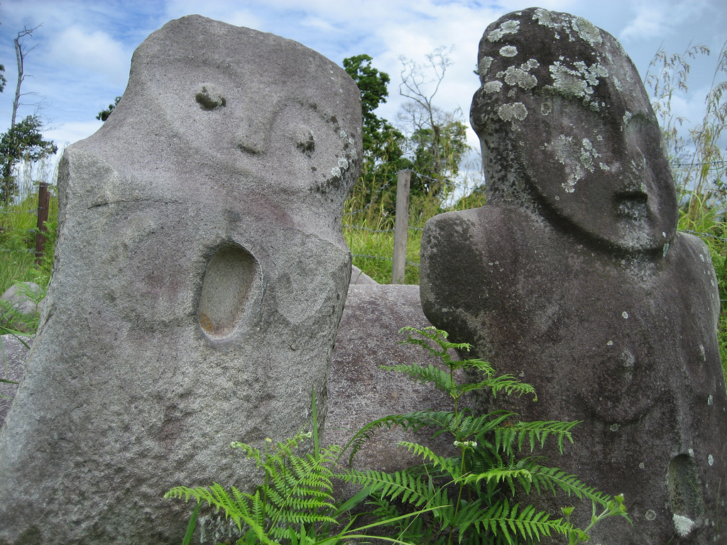Ancient Megalithic Site in Indonesia