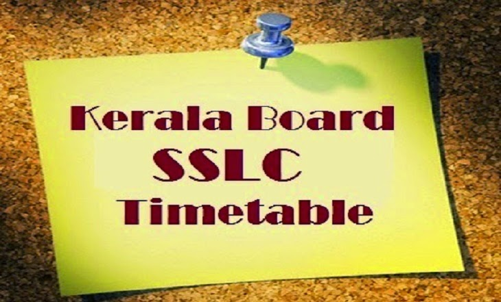 DHSE Kerala and Kerala SSLC Time Table 2015