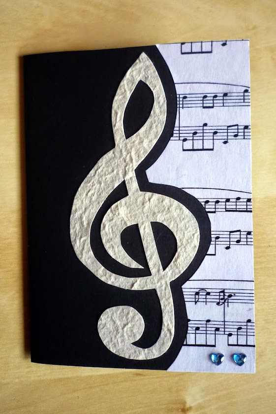 Handmade Treble Clef Card DIY