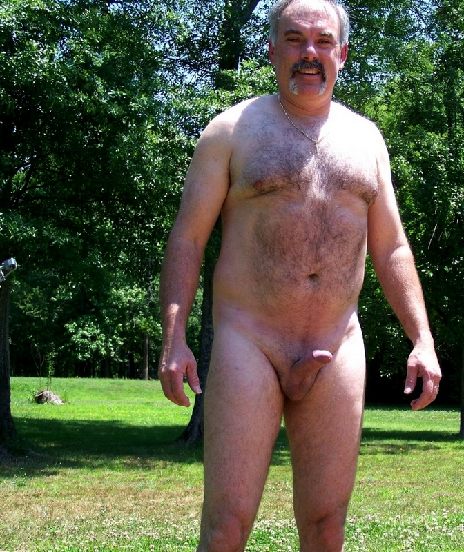 older naked gay men - hairy daddies - moustache gay daddies