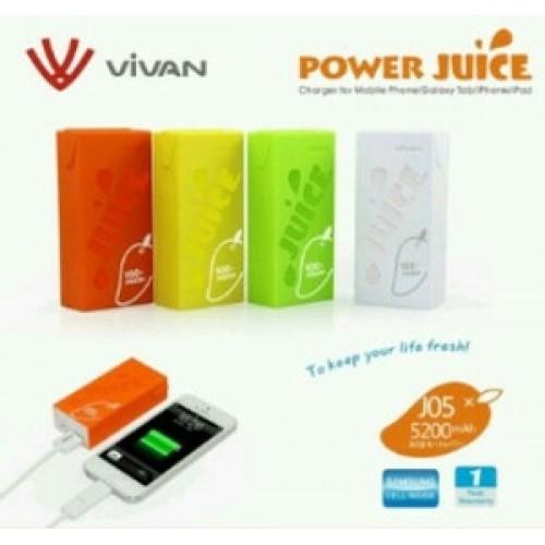 Powerbank Vivan J05 5200 Mah