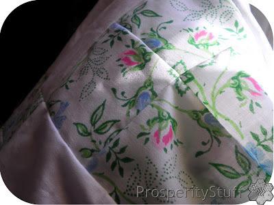 ProsperityStuff Vintage Sheet Quilt Stacked Posy