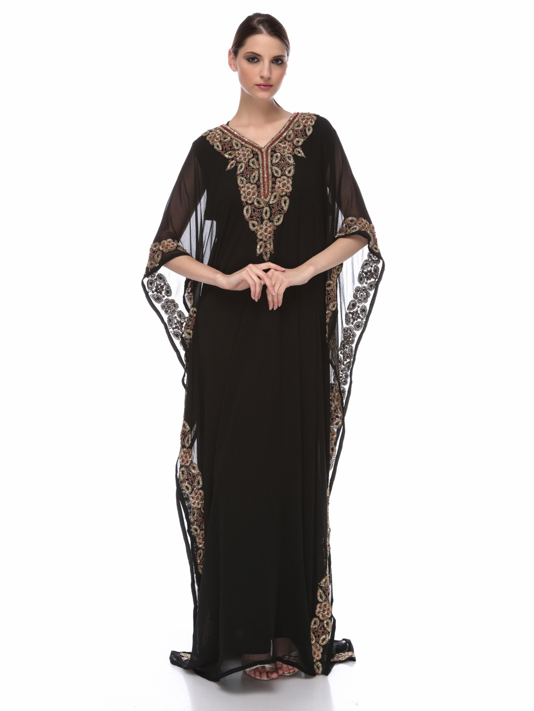 Jalabiya designs 2013 arabic kaftan dresses collection for girls