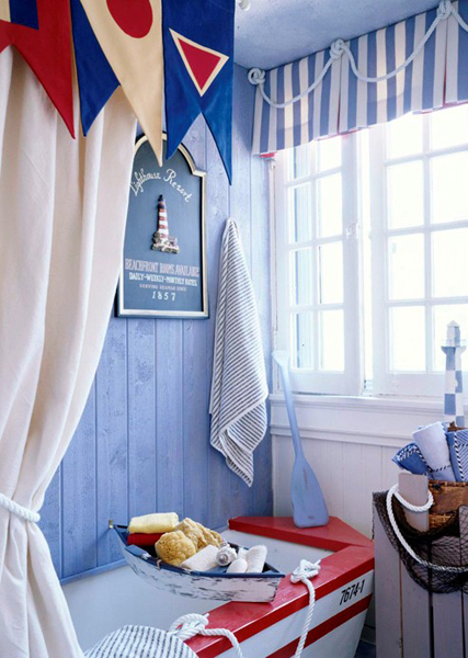 Ideas Baño Para Ninos:Nautical Bathroom Decor