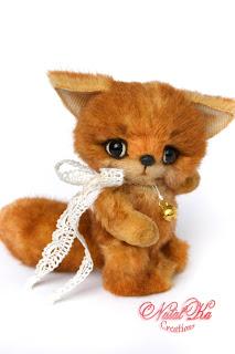 Авторский лисенок тедди, лиса тедди, плюшевый лисенок, рыжий лисенок, artist teddy fox, artist fox jointed, fox handmade ooak, teddies with charm, NatalKa Creations, Künstlerteddy, Künstlerfuchs, Fuchs Teddy