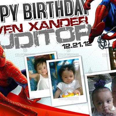 Spiderman Birthday Tarp PSD