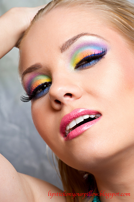 Rainbow Makeup Look Lipstick On Your Pillow Makeup