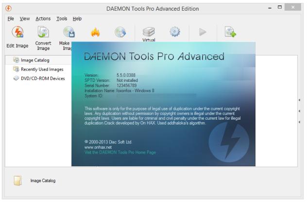 Daemon Tools Pro Advanced 5.5.0 Screenshot