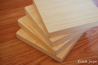 sanded uncured wood blocks