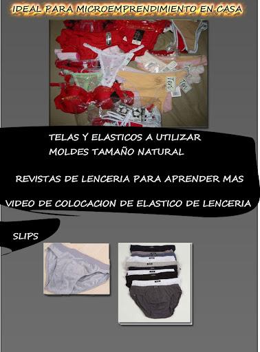 Curso de fabricacion de lenceria intima