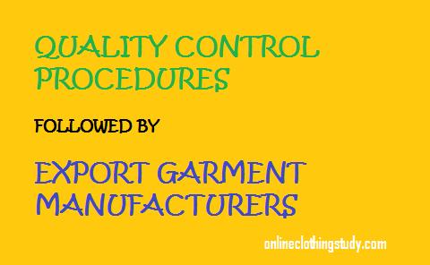 Quality Control Procedures