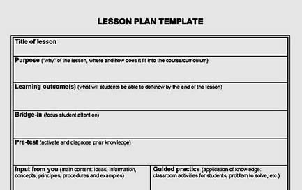 All Templates Lesson Plans Template – Curriculum Planning Template