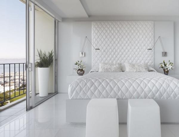 Habitaciones color blanco dormitorios con estilo for Diseno de dormitorio blanco