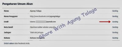 email facebook minta konfirmasi ulang, cara ganti email utama akun facebook