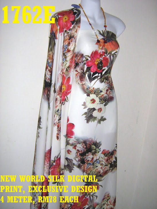 NWS 1762E: NEW WORLD SILK DIGITAL PRINTED, EXCLUSIVE DESIGN, 4 METER
