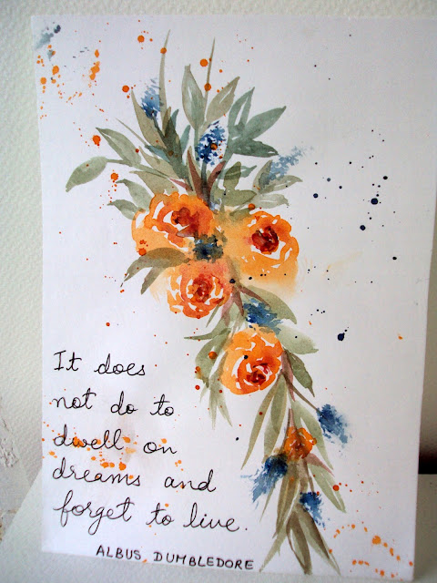 ‎artwork‬ ‪#‎orangeflowers‬ ‪#‎quote‬ ‪#‎handlettering‬ ‪#‎splatter‬ ‪#‎floralart‬  typography  orangeblossoms painting
