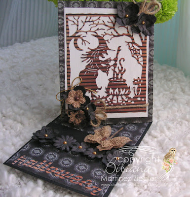 halloween twisted easel card last view
