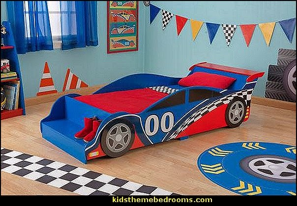Car Racing Theme Bedrooms Theme Beds Car Beds Race Car Beds  Car Themed  Bedroom Furniture. Race Car Themed Bedroom