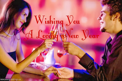 New Year Romantic Greeting Card for Husband 2014