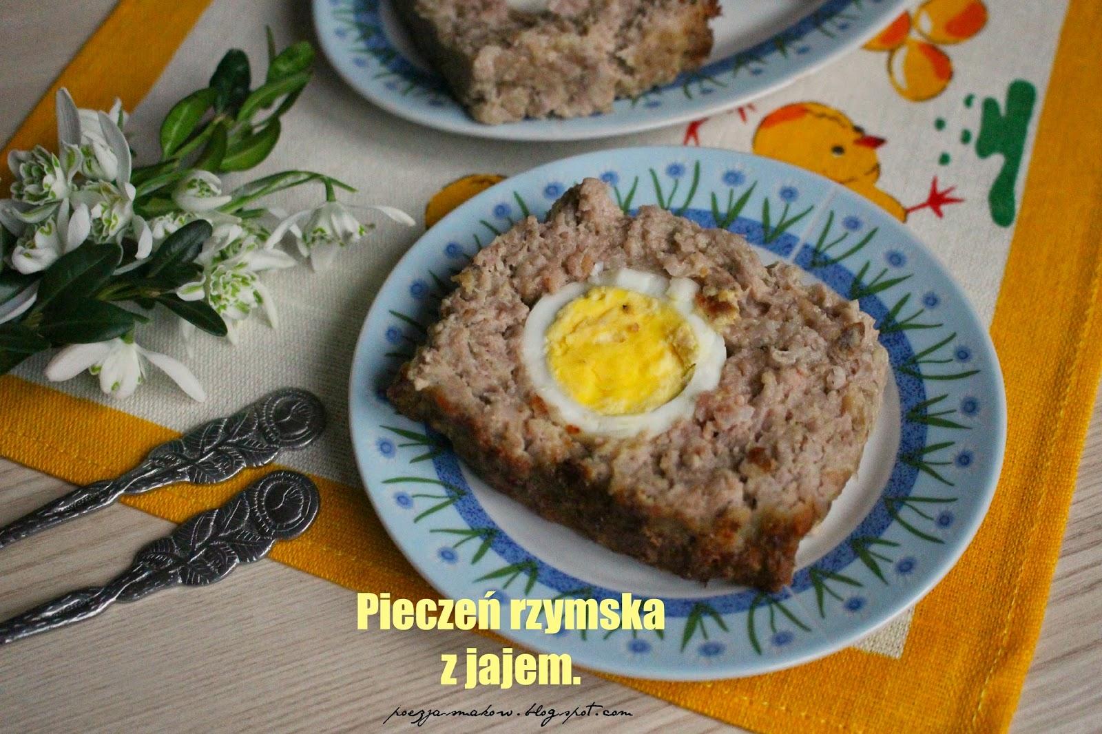 Pieczeń rzymska z jajem.