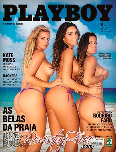 Revista Playboy - As Belas da Praia - Janeiro 2014