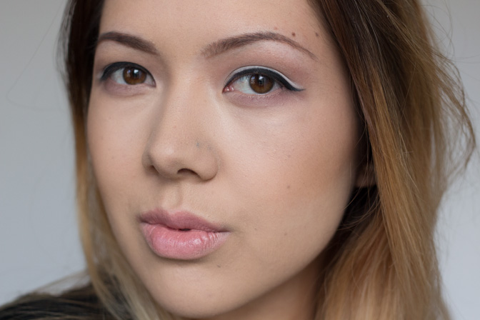 fashion magazine beauty panel double graphic liner fall 2014 fashion week makeup look