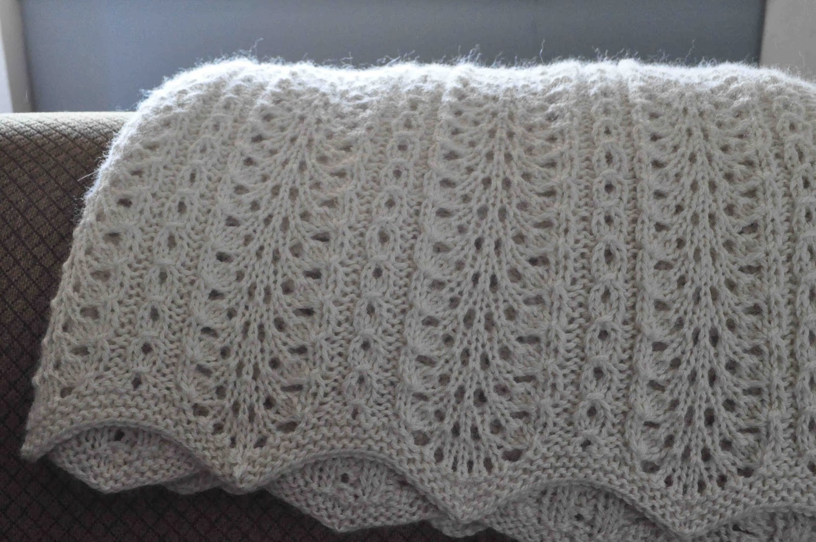 Arrow Acres Farm: Hand Knit Alpaca Blanket