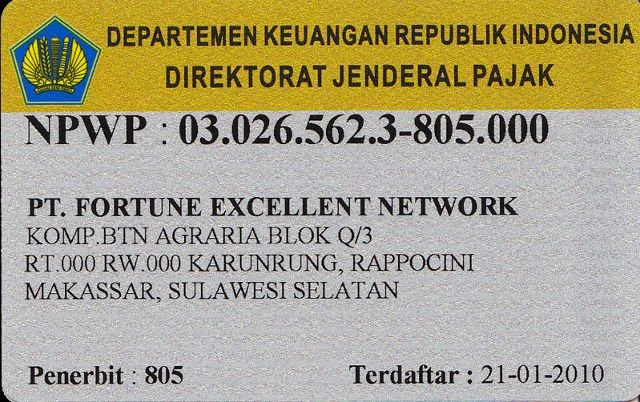 Contoh Dokumen SIUP, NPWP, Akta Notaris, dan SPT Pajak