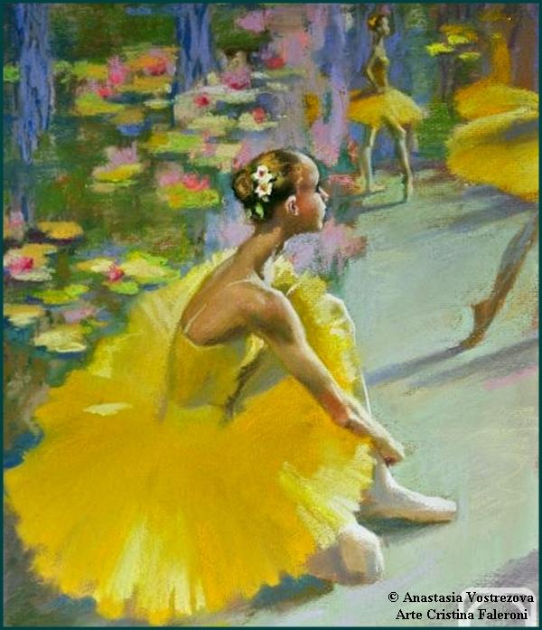 Painter Anastasia Vostrezova