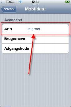 Opsætning af Internet og MMS på iPhone 3G, 3GS og 4