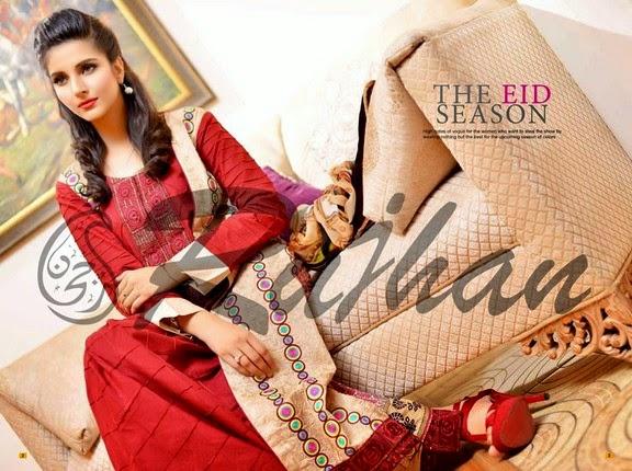 FestivanaEidCollectionByRujhanFabrics wwwfashionhuntworldblogspot 9  - Festivana Eid Collection 2014-2015 By Rujhan Fabrics