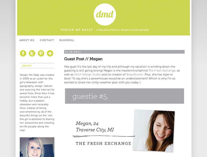 sarah gabler, guest posting, design me daily, Megan Gilger, chilly weather wear, san francisco