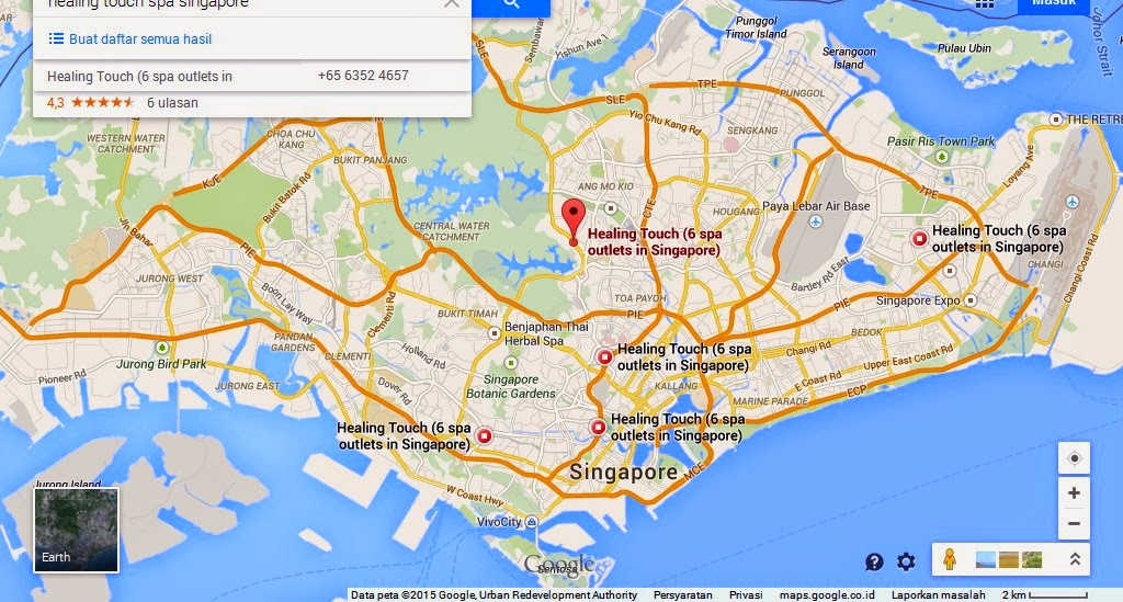 Healing Touch Spa Singapore Map Tourist Attractions in Singapore – Singapore Tourist Map