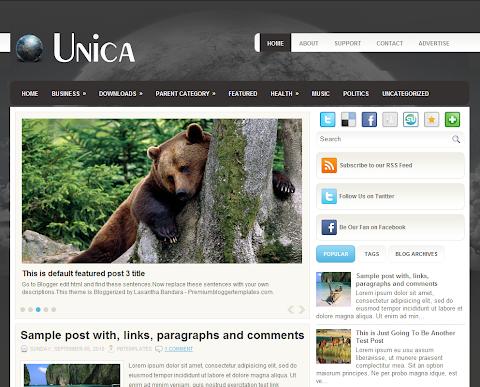Unica Blogger Theme