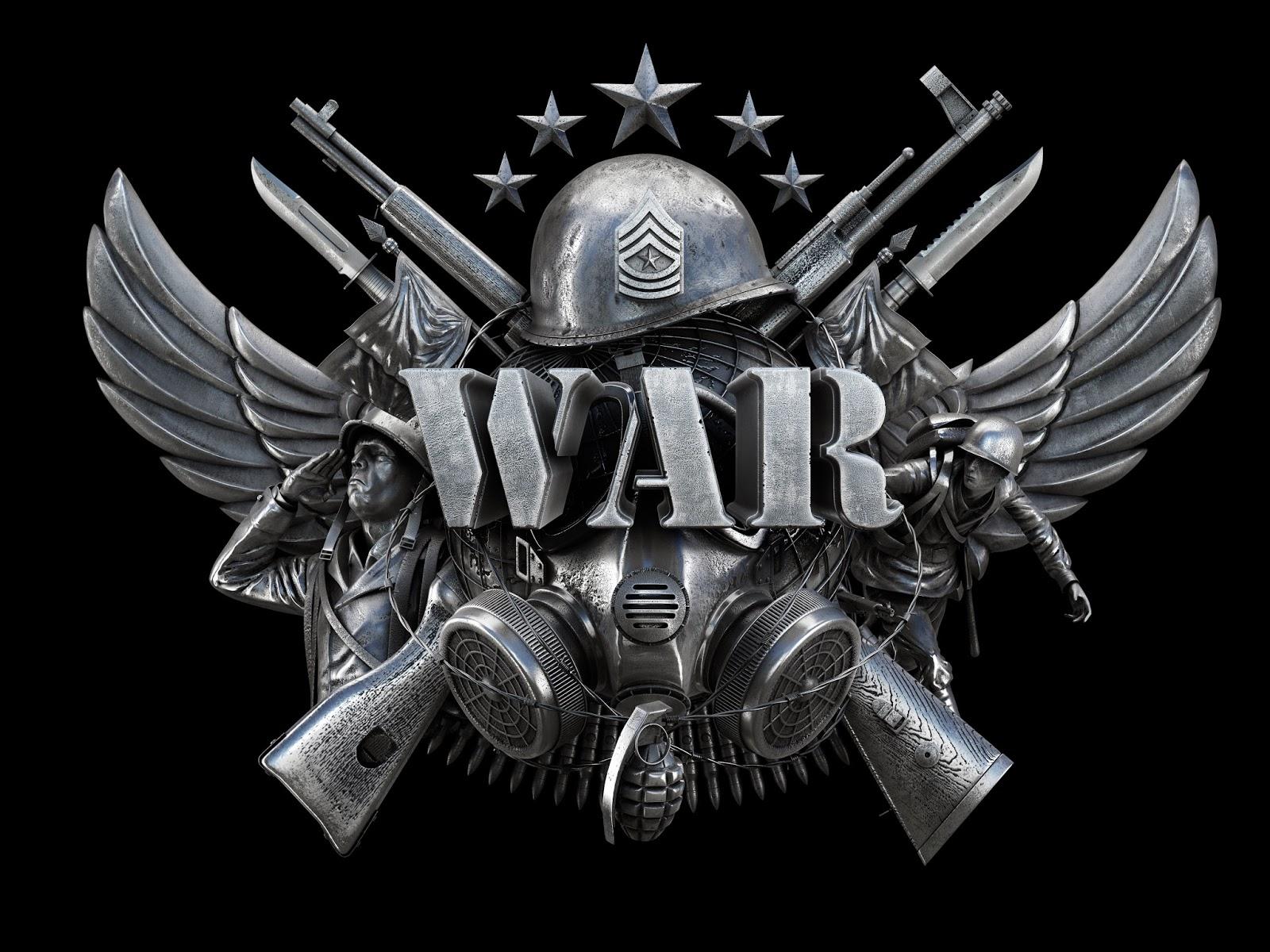 JAVIER PORCEL 3dArt WAR The Board Game Logo