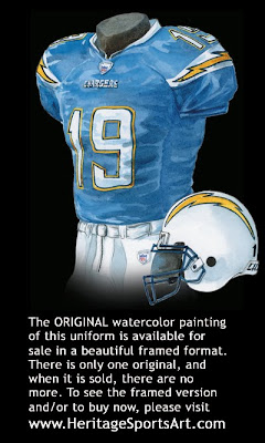 San Diego Chargers 2007 uniform