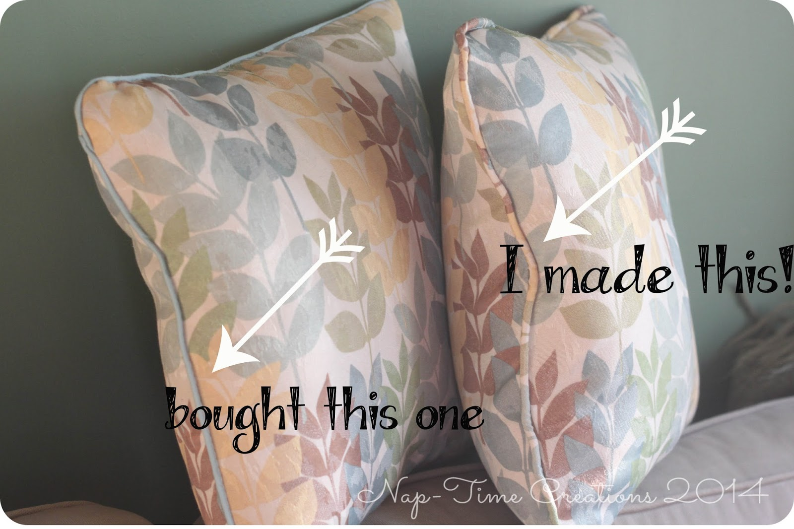 How To Make A Throw Pillow With Piping : Sewing a Throw Pillow with Piping {Tutorial} - Nap-time Creations