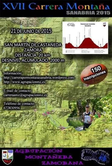 Cartel de la XVII Carrera por Montaña de Sanabria. /TRAILCYL