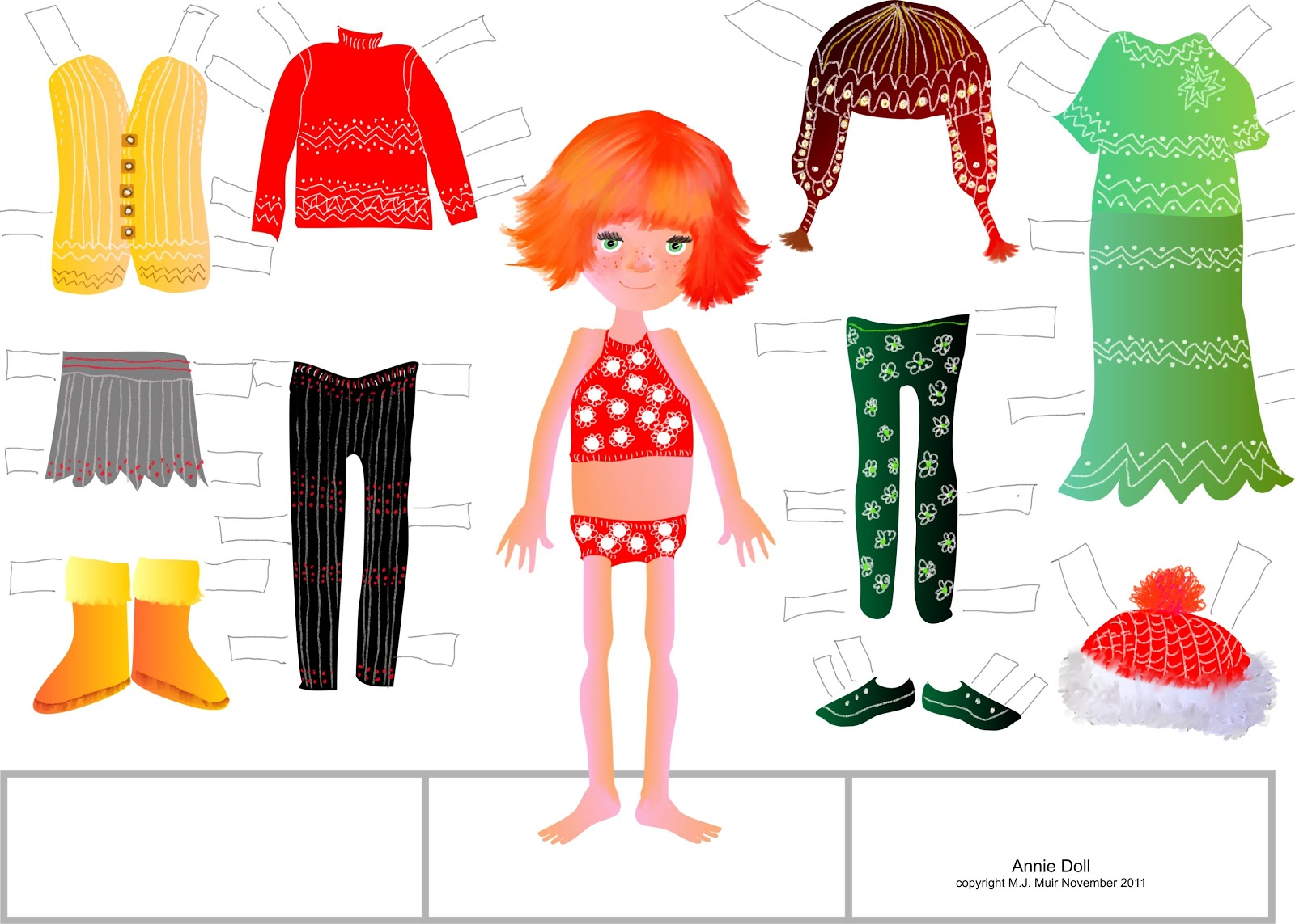 Paper Dolls Cut Outs