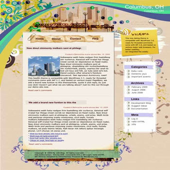 Christopher Columbus blogger template. converted WordPress to Blogger template.