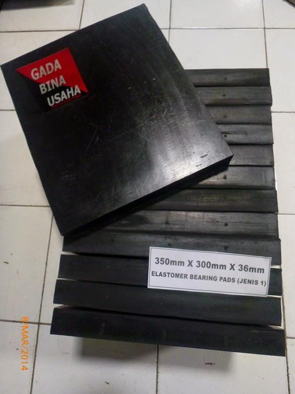 Bantalan Elastomer Jembatan 300 X 350 X 36 mm