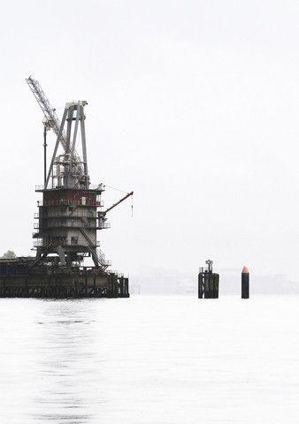 Foto af Mathias Juel Christensen fra havnen i Hamborg