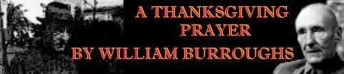 Famous Thanksgiving Prayer William Burroughs For Facebook Cover