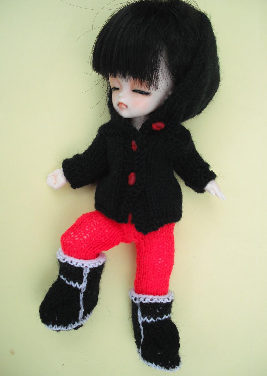 bitstobuy: Free knitting pattern for \'Ugg\' boots for tiny bjd