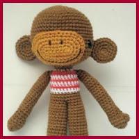 Mono cabezón amigurumi