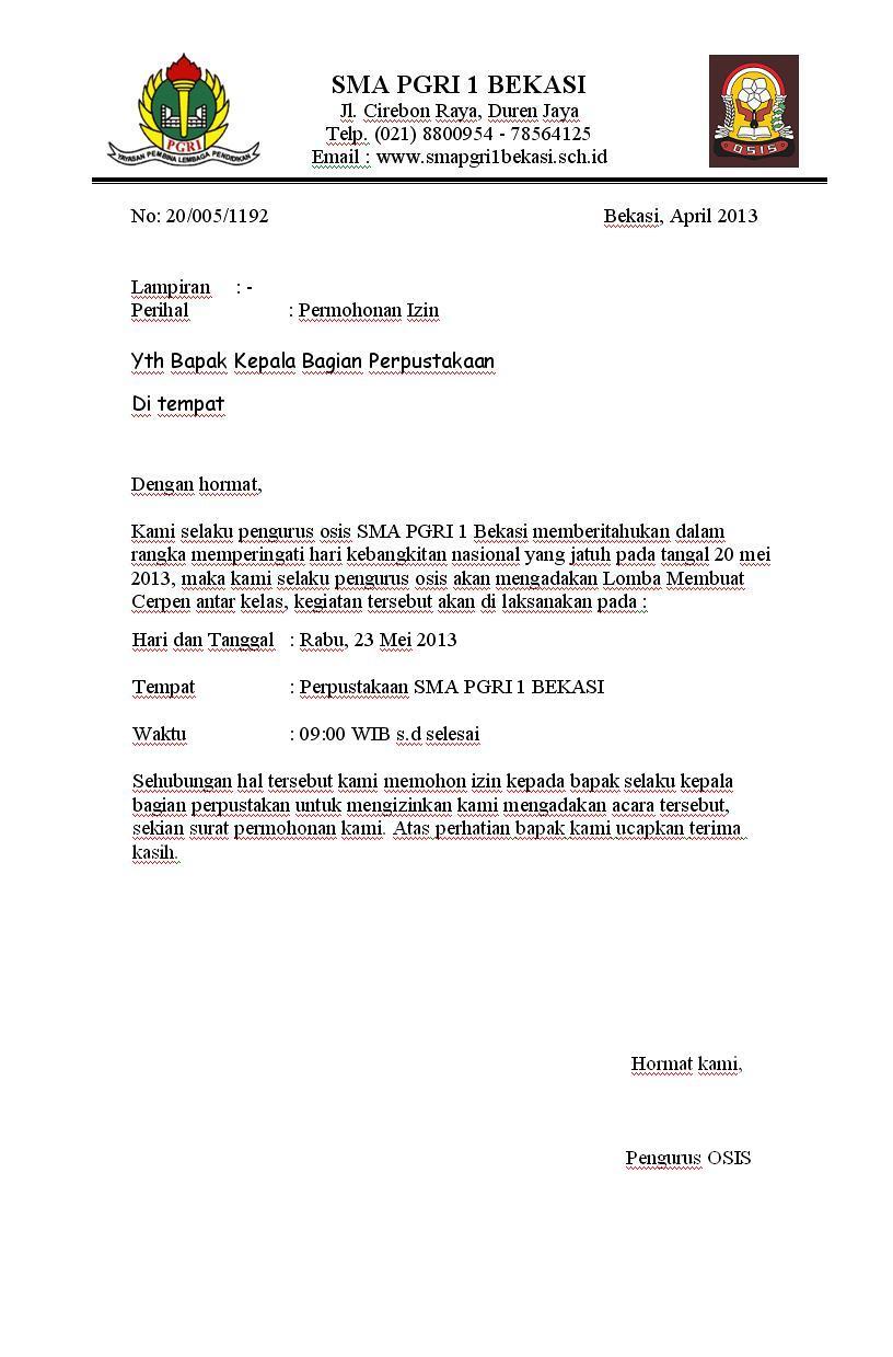 contoh surat dinas contoh surat dinas penggunaan bahasa indonesia