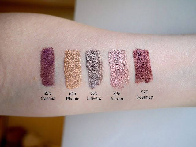 dior fluid eyeshadow review swatch cosmic phenix univer aurora destinee